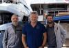 Erik. Van Wilsum of Martek CUAS with Gianluca Bardi and Emmanuelle Lipi of Global Yachting / GY Marine.