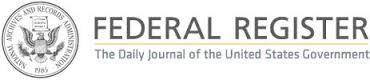 Federal Register Logo