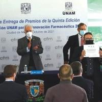 Entregan el premio CFM-Fundación UNAM para la innovación farmacéutica 2020