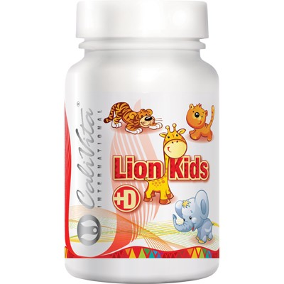 Lion Kids Vitamina D Calivita flacon cu 90 tablete masticabile