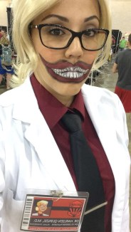 Dr. Harleen Quinzell on the other side