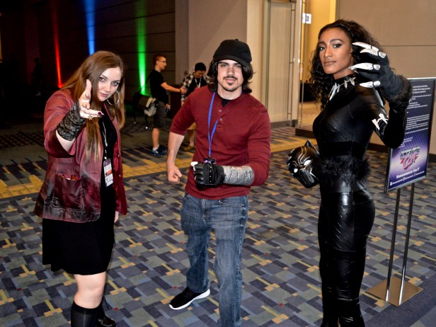 Scarlet Witch, Winter Soldier and Black Panther
