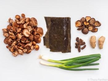 Zutaten für Pilzbrühe