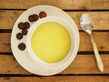Rosenkohl-Cremesuppe mit Chorizo