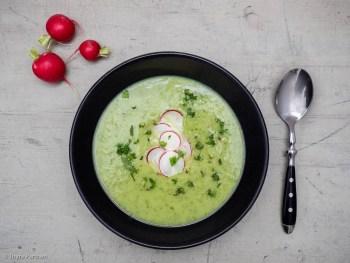 Radieschen-Suppe mit Minze