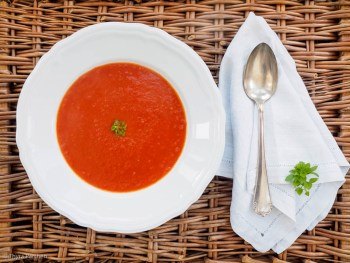 Einfache, schnelle Tomatensuppe