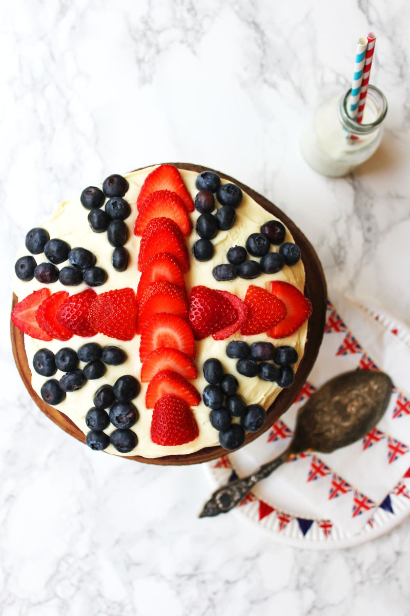 This Red Velvet Cake with Cream Cheese Frosting and Fresh Berries is definitely fit for a royal celebration