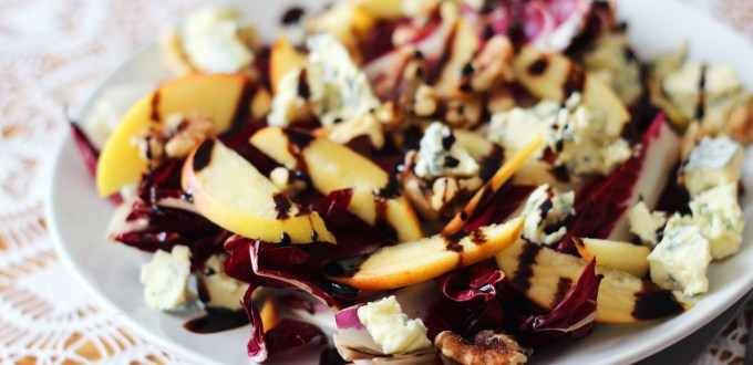 Salads are for winter too check out this Griddled Chicory Apple and Stilton Salad recipe