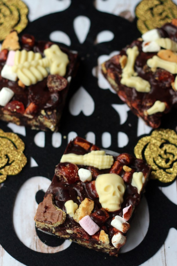 Spooky Rocky Road with Skeleton Bones from Supper in the Suburbs