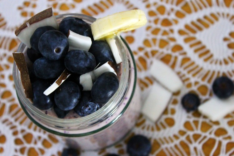 This Blueberry Banana and Coconut Smoothie is a fantastic way to start the day find the recipe at Supper in the Suburbs
