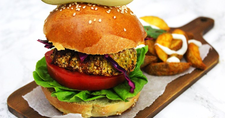 Carrot, Coriander and Chickpea Burgers