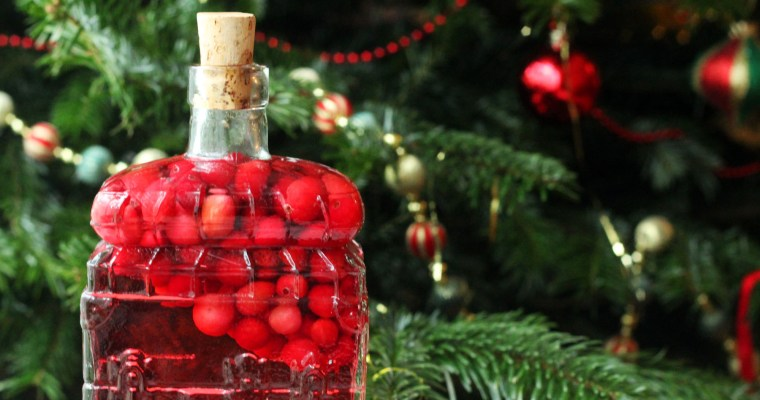 Cranberry Infused Gin with grapefruit and star anise