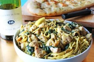 Creamy Spinach and Artichoke Pasta Sauce