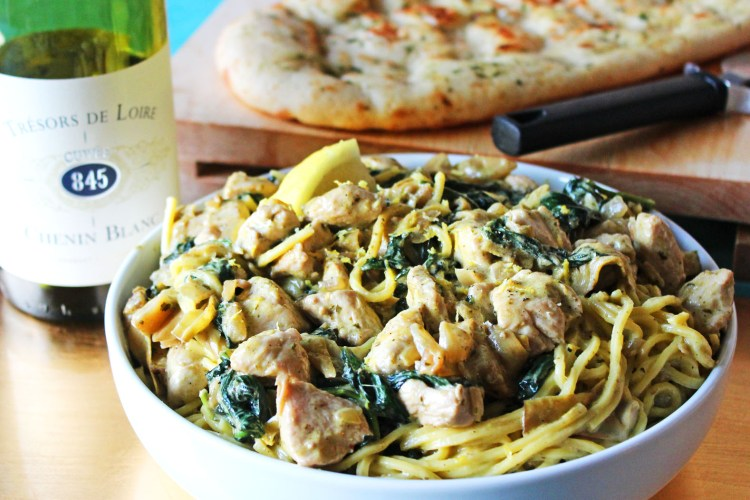 Creamy Spinach and Artichoke Pasta Sauce