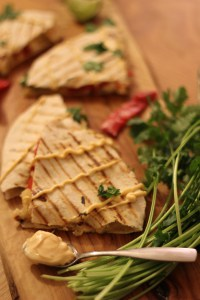 Roasted Red Pepper Quesadillas
