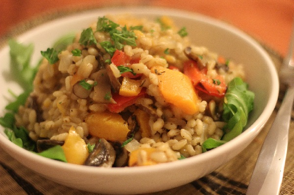 Winter Pearl Barley and Butternut Squash Risotto (v)