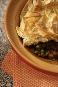 Samosa Pie with Filo Pastry