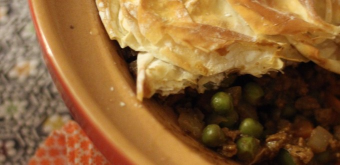 Samosa Pie with Filo Pastry