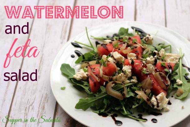 Watermelon Salad with Feta and Balsamic Glaze