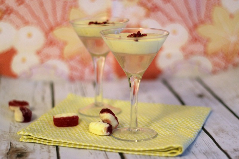 Rhubarb Infused Vodka and Custard Foam - Rhuabarb and Custard Cocktail