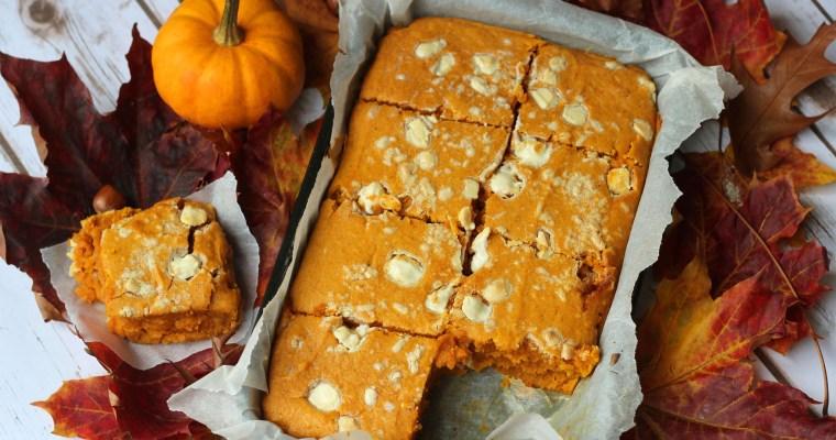 Pumpkin Spice Blondies