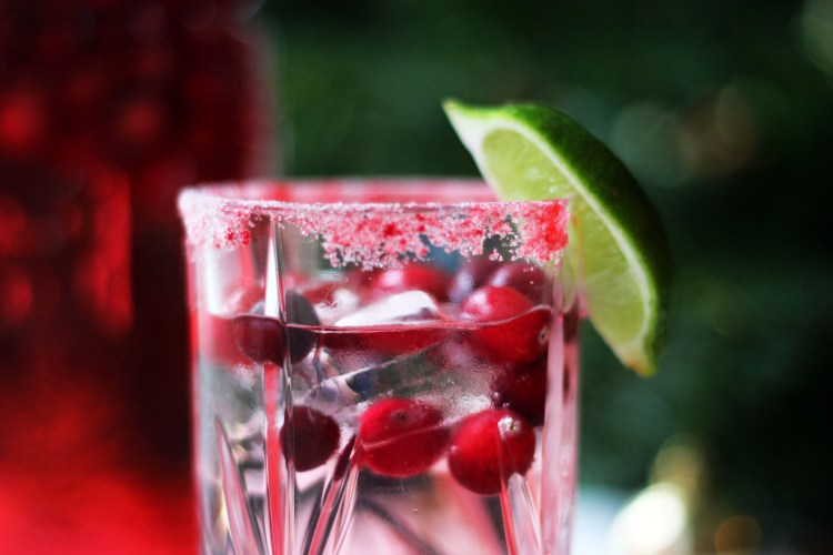 A fresh and zingy cranberry gin and tonic from Supper in the Suburbs