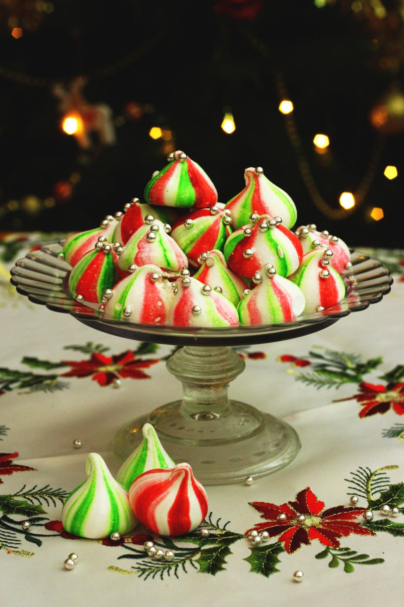 Christmas Elf Meringue Kisses from Supper in the Suburbs are a fantastic sweet treat to offer friends and family this Christmas