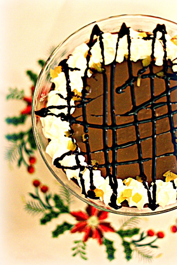 Dark Chocolate, Orange and Ginger Trifle from Supper in the Suburbs