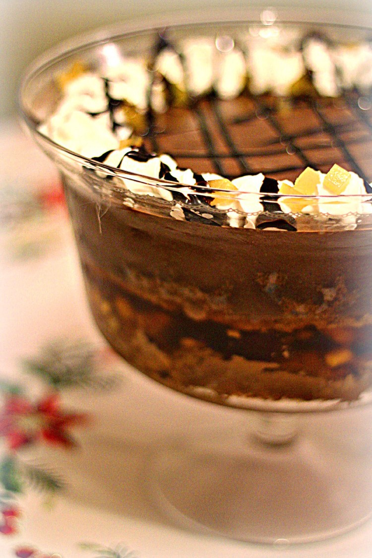 Dark Chocolate Orange and Ginger Trifle from Supper in the Suburbs