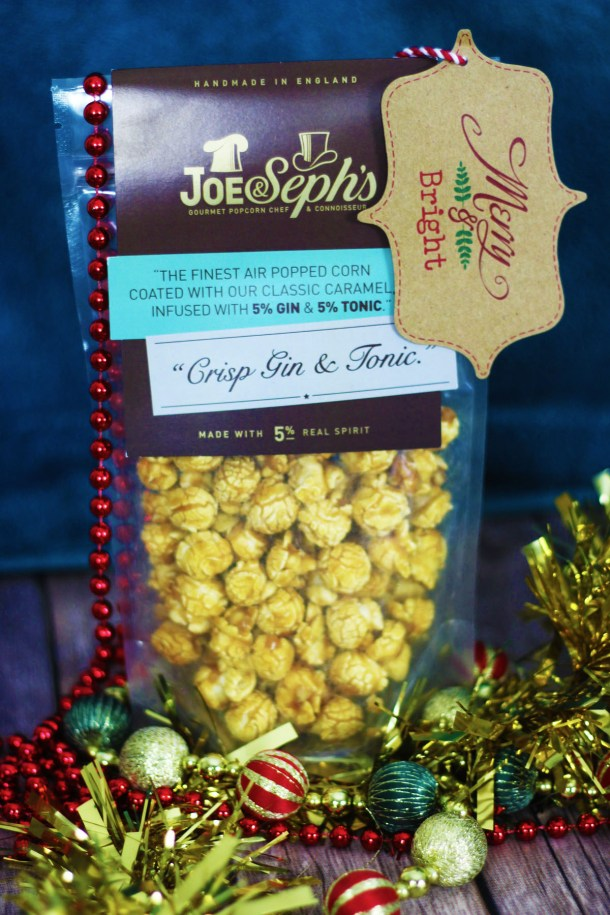 Joe and Sephs Gin and Tonic Flavoured popcorn is a great stocking stuffer and will go down a treat while watching the Queens Speech at Gin Oclock Find more gift ideas for Gin Lovers at Supper in the Suburbs