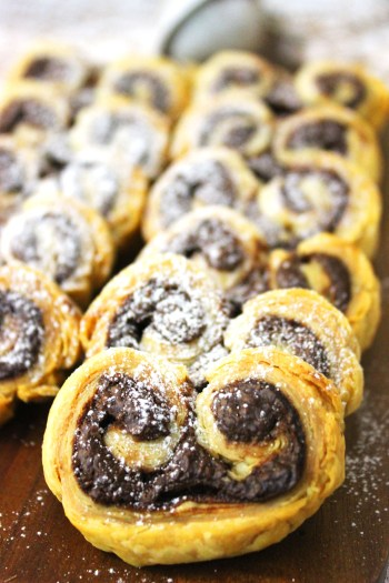 Make these 2 ingredient Nutella Palmiers this weekend Serve with a fresh coffee and a dusting of icing sugar