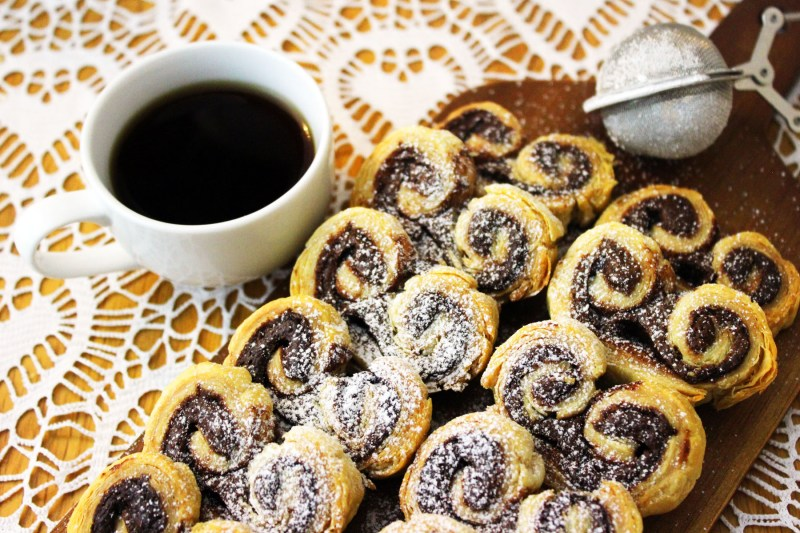 Simple Two Ingredient Nutella Palmiers a tasty breakfast pastry that goes perfectly with a cup of freshly brewed coffee