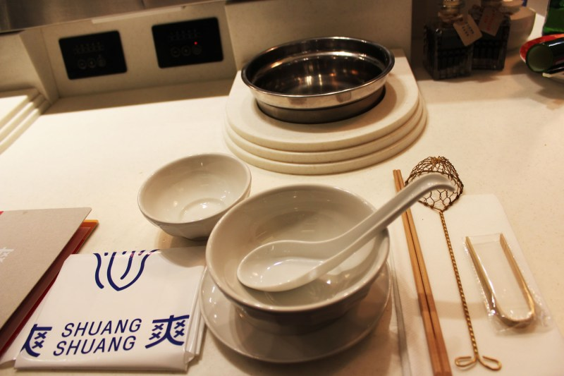The set up at Shuang Shuang