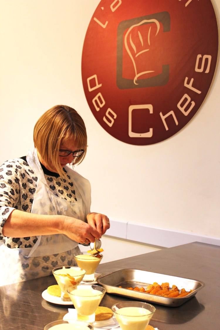 Dishing up dessert at L'atelier des Chefs