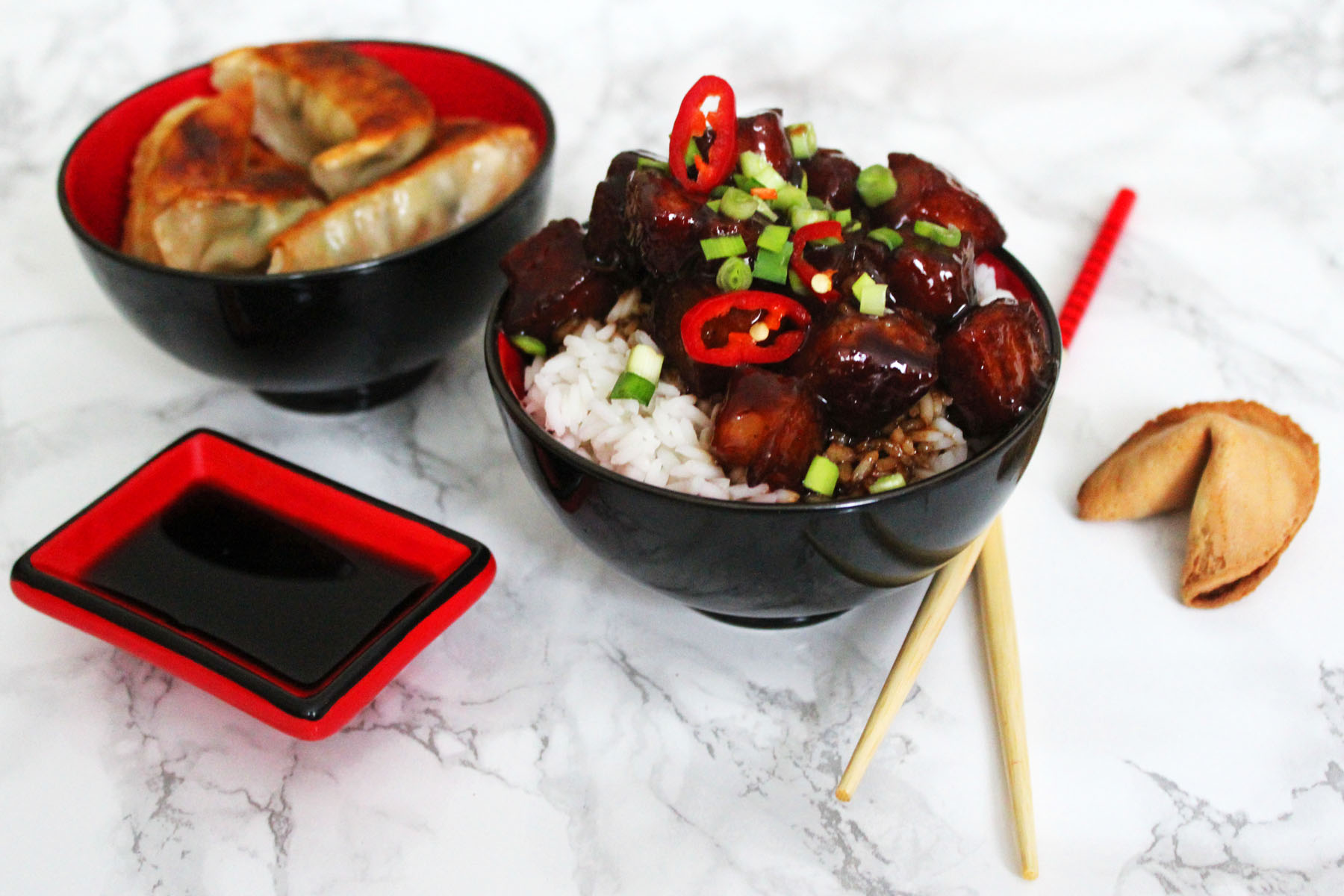 Sweet And Spicy Pork Belly Hong Shao Rou Supper In The