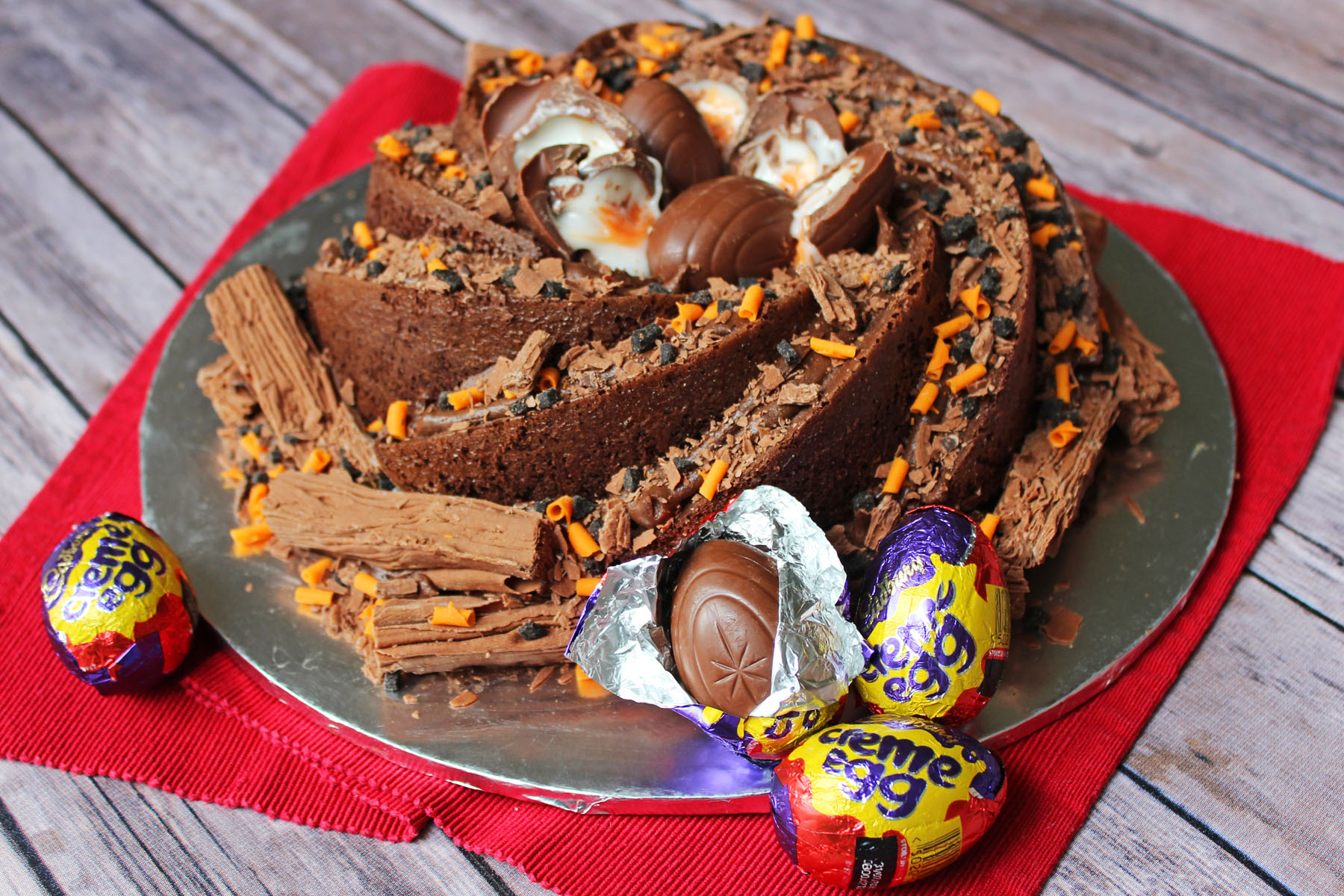 Cadbury's Creme Egg Bundt Cake