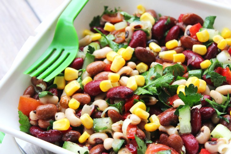Three Bean Salad should have a permanent spot in your fridge. Its great on its own, as part of a meze platter, at BBQs, or a buffet spread! Find the recipe at Supper in the Suburbs