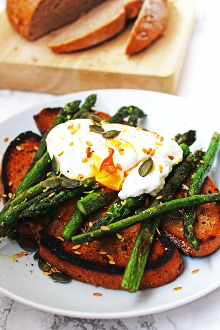 Griddled Asparagus and Poached Egg on Toast