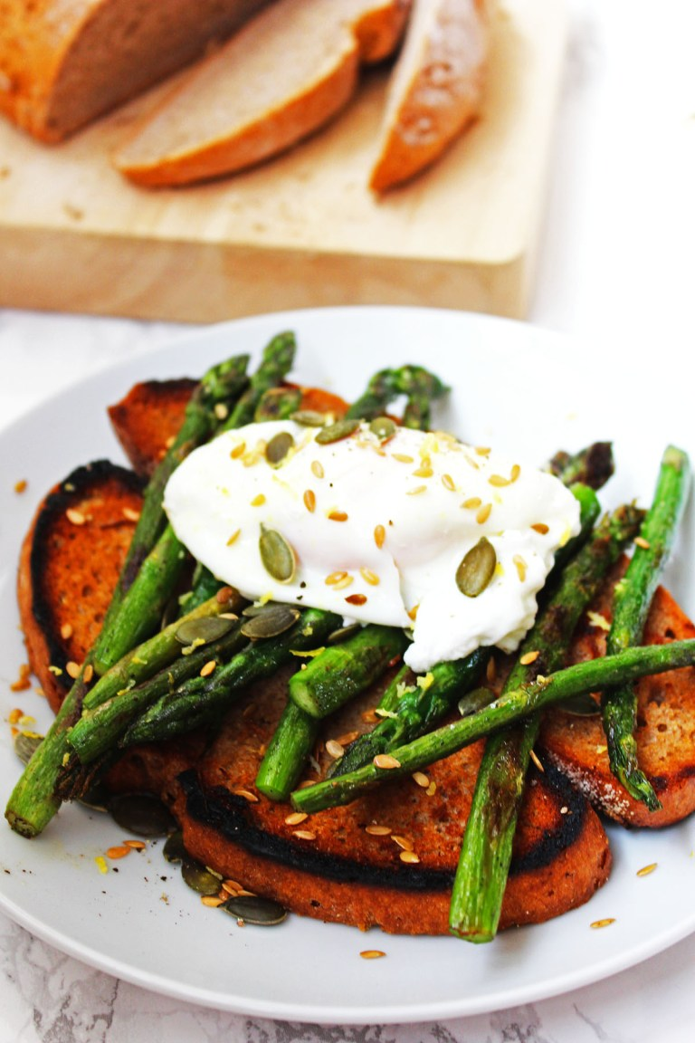 Poached Egg and Asparagus on Toast - Mother's Day Breakfast Ideas