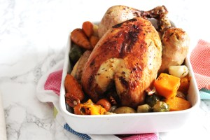 Herby Roast Chicken the perfect Sunday lunch or celebratory dinner. Get the recipe at Supper in the Suburbs