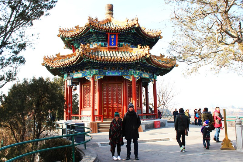 Just north of the Forbidden City is a beautiful park with panoramic views. Perfect romantic spot!