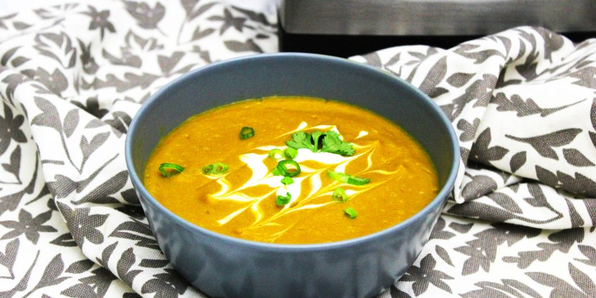 This Sweet Potato and chipotle Soup can easily be made in a vitamix blender. Get this recipe and more like it at Supper in the Suburbs. It's the perfect dinner or light lunch when you're trying to be healthy.