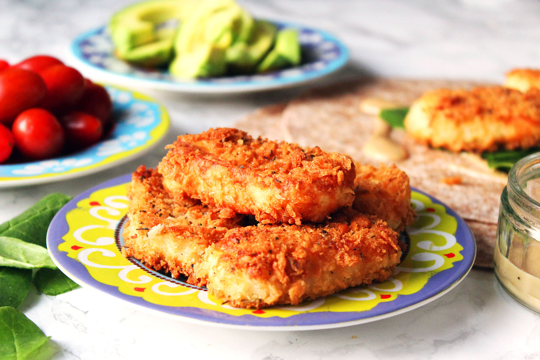 Crispy Fried Halloumi