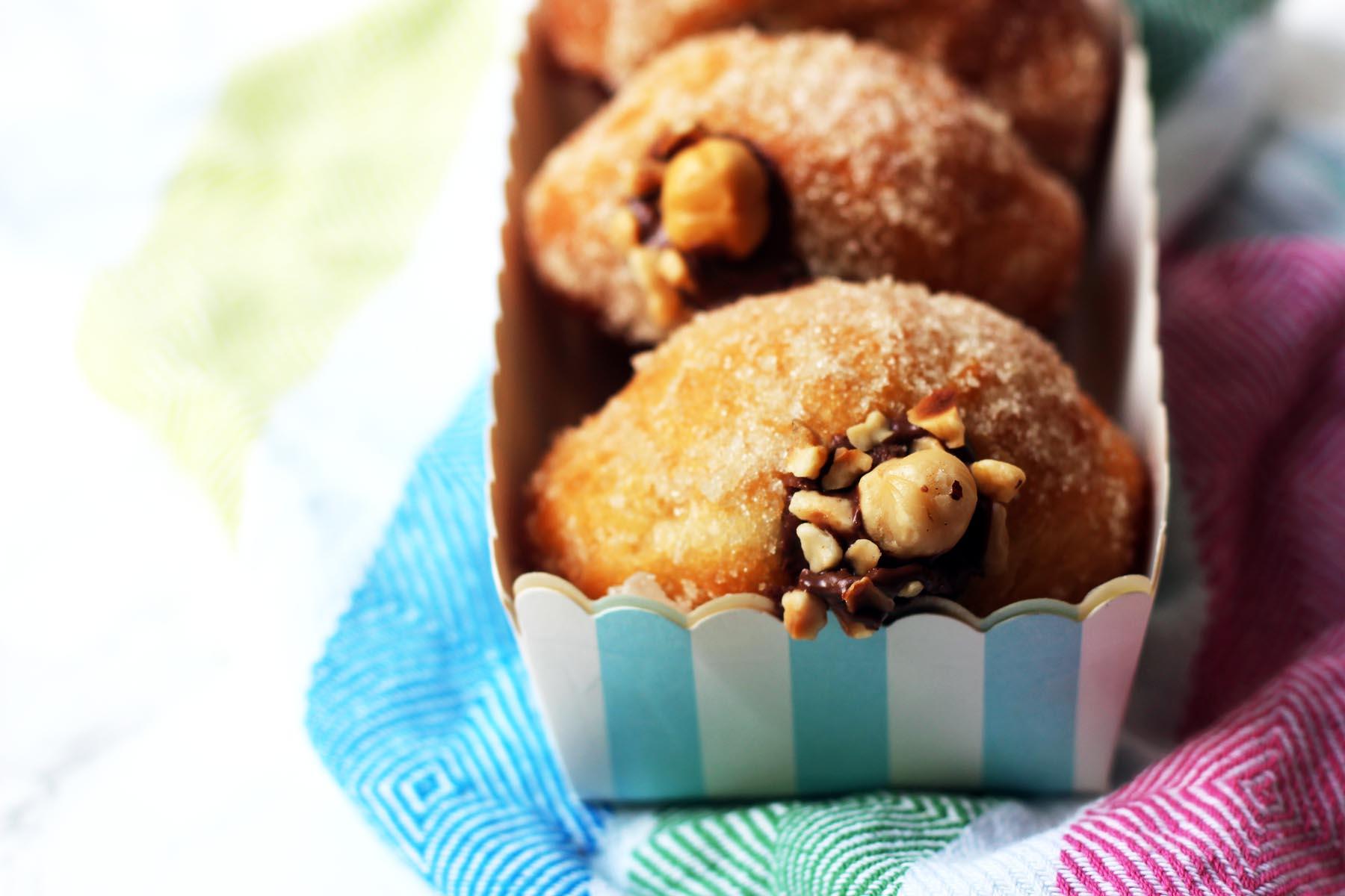 Nutella Stuffed Doughnuts
