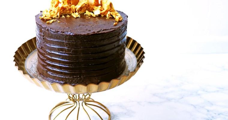 Cinder Toffee Bonfire Cake