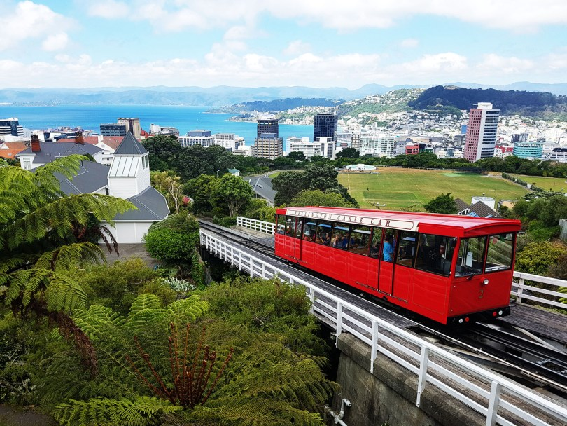 Wellington Cable Car is a must see on your 2 week road trip around New Zealand's north island