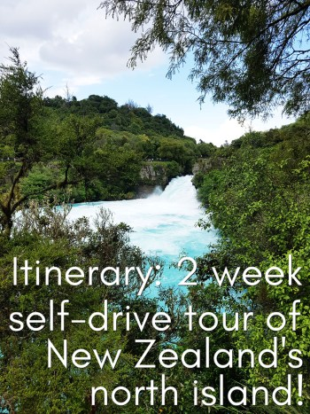 Itinerary for a 2 week self drive tour of New Zealand's north island, starting in Auckland and ending in Wellington