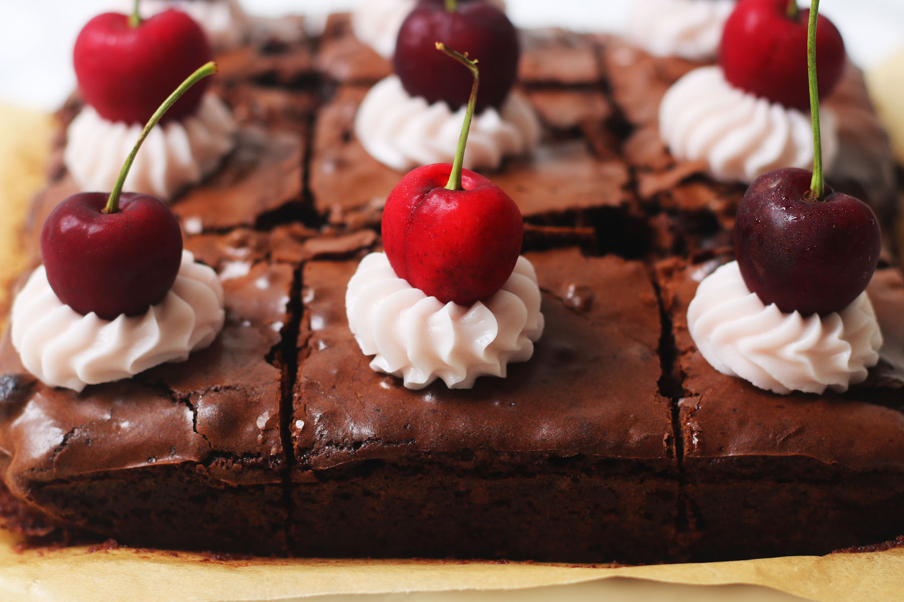 Cherry and Pecan Brownies