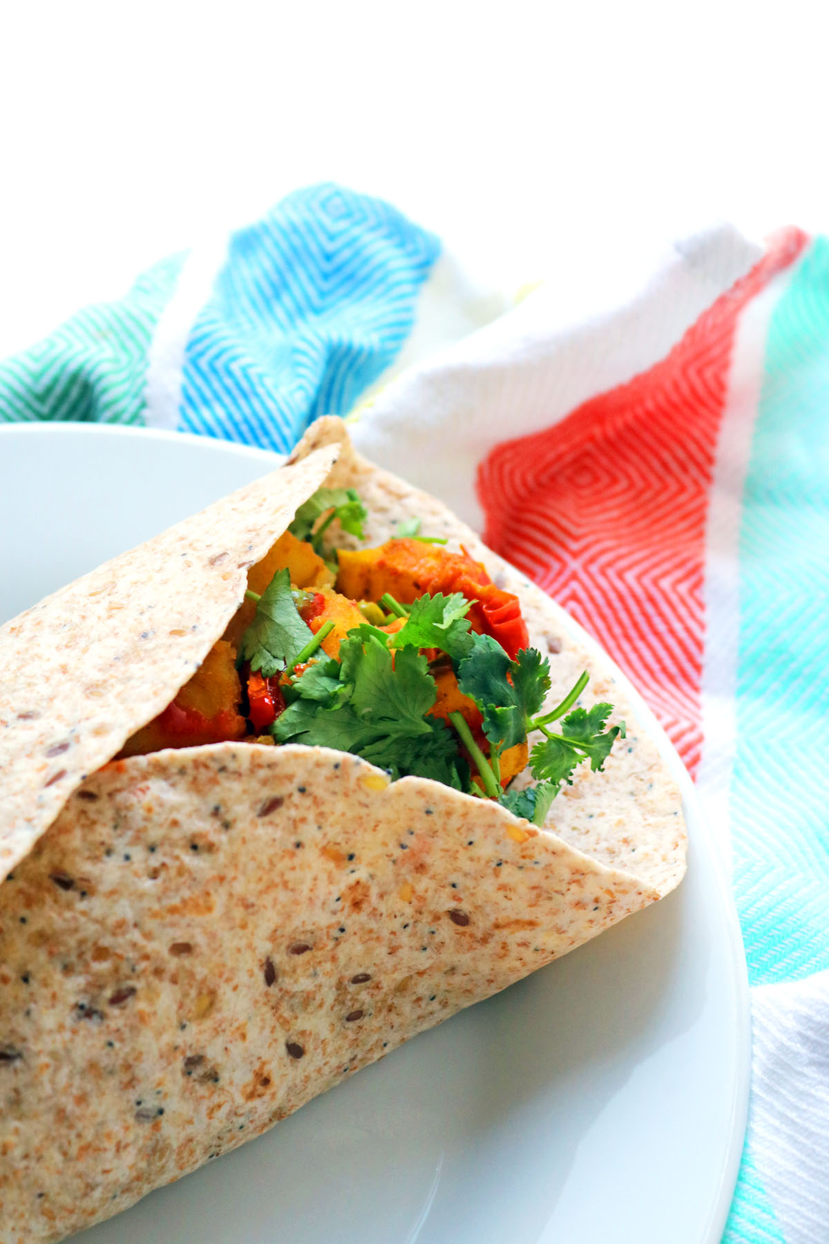 Bombay potato wrap