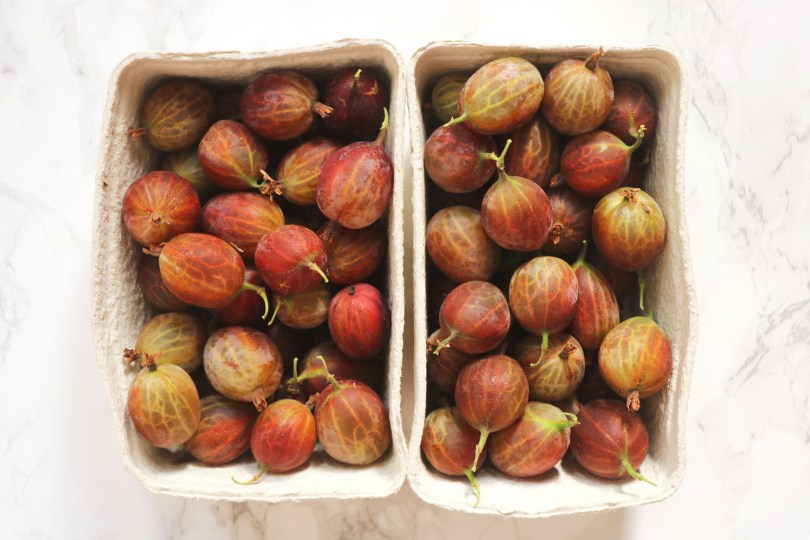 Punnets of gooseberries